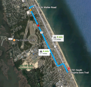 Distance to Comedy Club of OBX