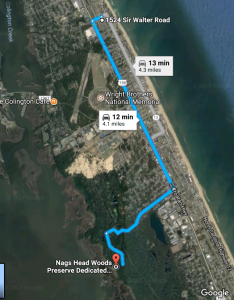 Nags Head Woods Preserve from Dragonfly Dunes, OBX